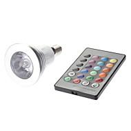 Spot Commandée à Distance Couleurs Changeantes MR16 E14 3 W 1 LED Haute Puissance 180 LM AC 85-265 V