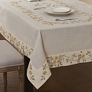 Beige Polyester Rectangulaire Nappes de table