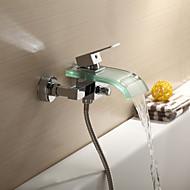 Grifo de bañera / Grifo de ducha - Contemporáneo - Cascada - Latón (Cromo)