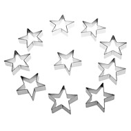 Star Shaped Cake Biscuit Cookie Cutter (10pcs)
