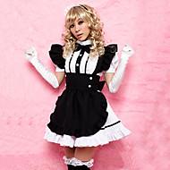 Sweet Girl nero grembiule bianco Poliestere Cameriera Uniforme