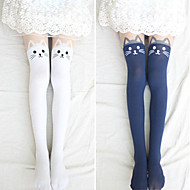 Lovely Kitty Velvet Lolita Velvet Stockings (4 Colors)