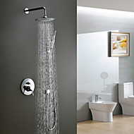 Contemporary Shower Faucet with 8 inch Shower Head + Hand Shower