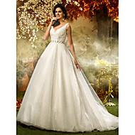 Lanting Bride® A-line / Princess Petite / Plus Sizes Wedding Dress - Classic & Timeless / Elegant & LuxuriousSparkle & Shine / Vintage