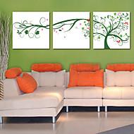 Stretched Canvas Art Botanical Tree Set of 3