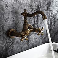 Sprinkle® Kitchen Faucets  ,  Antique / Traditional / Art Deco / Retro  with  Antique Brass Two Handles Two Holes  ,  Feature  for