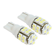 2 stk 20-SMD T10 12V White Light LED Replacement pærer
