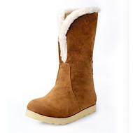 Suede Flat Heel Snow Boots