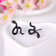 유럽과 미국의 복고풍 형광색 뱀 귀걸이 귀걸이 (무작위 색깔)
