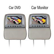 9 tommers bil dvd spiller og skjerm med spill system gratis hodetelefoner (1 par)