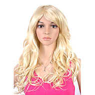 Capless High Quality Synthetic Long Straight Light Golden Blonde Party's Wigs