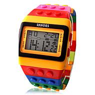 Αντρικά Γυναικεία Unisex Μοδάτο Ρολόι Ρολόι Ξύλο Ψηφιακό ρολόι Ψηφιακό LCD Ημερολόγιο Χρονογράφος συναγερμού Plastic Μπάντα Γλυκά Απίθανο