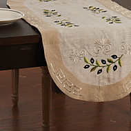Beige Lin Rectangulaire Chemins de table