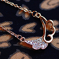 Angel Wings Pendants Fashion hollow diamond wings Korean short paragraph clavicle chain necklace new  N542