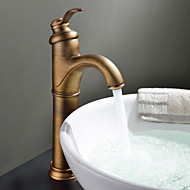 Sprinkle® Sink Faucets  ,  Countertop  with  Antique Brass Single Handle One Hole  ,  Feature  for Centerset