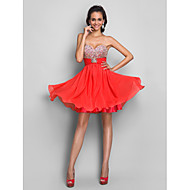 Cocktail Party / Homecoming / Prom / Sweet 16 Dress - Plus Size / Petite A-line / Princess Strapless / Sweetheart Short/Mini Chiffon
