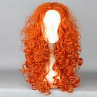 Brave Princess Merida Orange Cosplay Wave Wig