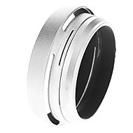 2-in-1 Metal Lens Shade & Filter Adapter Ring for Fuji X100 Camera (Silver)