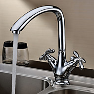 Sprinkle® Kitchen Faucets  ,  Transitional  with  Chrome Two Handles One Hole  ,  Feature  for Centerset