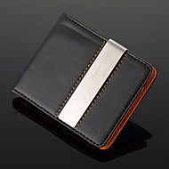 Gift Groomsman Personalized Black Leather Money Clip