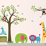 DIY Wall Stickers Animal Cartoon Zoo Washable Wall Decals