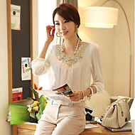 Women's Chiffon Lace Crochet T-Shirt