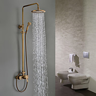 Sprinkle® Shower Faucets  ,  Traditional  with  Antique Brass Single Handle Three Holes  ,  Feature  for Wall Mount