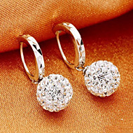 Hoop Earrings Women's Sterling Silver Earring Rhinestone