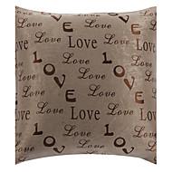 """18 """"Square modernt ord för kärlek Polyester dekorationskudde Cover"""