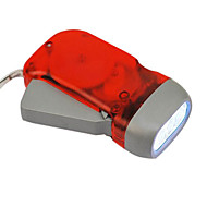 Red Eco-friendly 3-LED Dynamo Flashlights