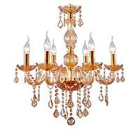 Golden Color E14*6 Model Chandeliers Fashion Crystal Pendant Lamp