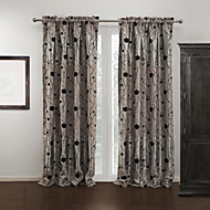Two Panels Country Flocking Roses Room darkening Curtains Drapes