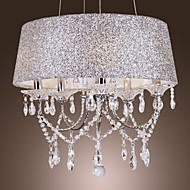Max 60W Chandelier ,  Modern/Contemporary / Drum Electroplated Feature for Crystal Metal Living Room / Bedroom / Dining Room