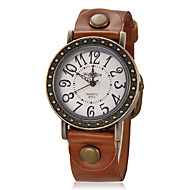 Women's Dress Watch Fashion Watch Wrist watch Quartz Silicone Band Vintage Brown
