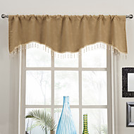 Classic Country Floral Scalloped Valance