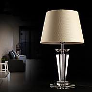 Moderne Concise K9 cristal Lampe de table lin Shade
