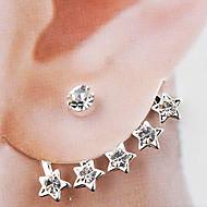 Earring Stud Earrings Jewelry Women Party / Daily Alloy Silver