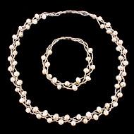 Takı Seti Kadın's Yıldönümü / Düğün / Doğumgünü / Hediye / Parti / Özel Anlar Mücevher Setleri İnci Kolyeler / Bileklikler