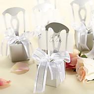 Delicate Silver Chair Pralinenschachtel und Kartenhalter mit Organza Bow - von 12 Stellen