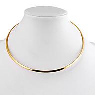 Fashion Multicolor Alloy Choker Necklace(Golden,Silver) (1 Pc)