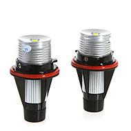 2 * 5W Vit High Power LED Angel Eye för BMW E39 E53 E60 E61 E64 E65 E66 E87