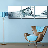 Stretched Canvas Print Art Modern Wave Set of 3