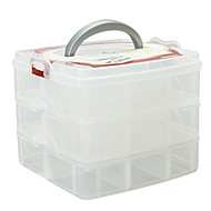 אחסון איפור Cosmetic Box / אחסון איפור אחיד 16.3 x 15.0 x 13.0