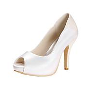 Women's Wedding Shoes Heels Heels Wedding Black/Blue/Pink/Purple/Red/Ivory/White/Silver/Gray/Champagne