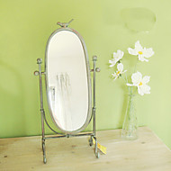"19.25""Old Fashion Style Metal Floor Mirror"
