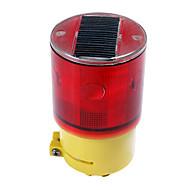 Solar Power Warning Safety Sign 6-LED Flash traffic Light