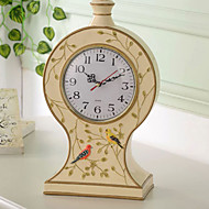 """13""""Country Type Polyresin Analog Tabletop Clock"""