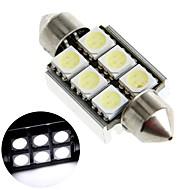 37ミリメートル6 5050 SMD LED CANバス白い車のインテリアドーム花飾りライトランプの電球