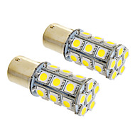 1156/BA15S 6W 24x5050SMD 490LM 5500-6500K Cool White Light LED žarulja za auto (12V, 2kom)