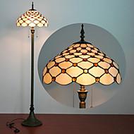 Rutmönster Golvlampa, 2 ljus, Tiffany Resin glasmålning Process